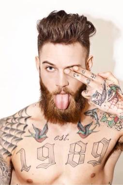Tattoos and Beard